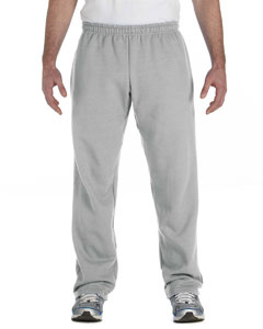 Sport Grey Heavy Blend™ 8 oz., 50/50 Open-Bottom Sweatpants