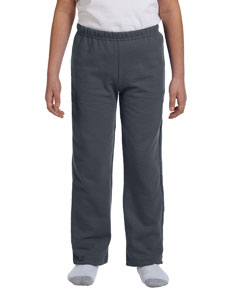 Charcoal Heavy Blend™ Youth 8 oz., 50/50 Open-Bottom Sweatpants