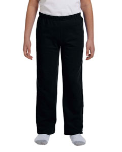 Black Heavy Blend™ Youth 8 oz., 50/50 Open-Bottom Sweatpants