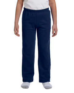 Navy Heavy Blend™ Youth 8 oz., 50/50 Open-Bottom Sweatpants