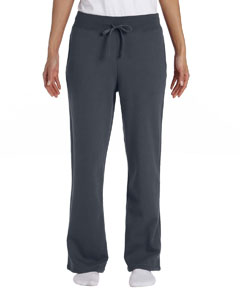 Charcoal Women's 8 oz. Heavy Blend™ 50/50 Open-Bottom Sweatpants
