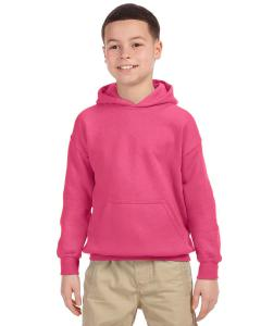 Safety Pink Heavy Blend™ Youth 8 oz., 50/50 Hood