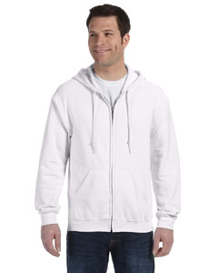 White Heavy Blend™ 8 oz., 50/50 Full-Zip Hood