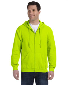 Safety Green Heavy Blend™ 8 oz., 50/50 Full-Zip Hood