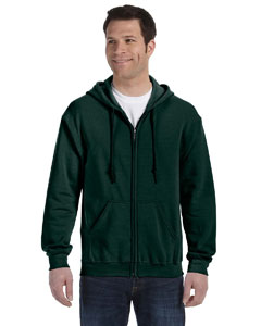 Forest Green Heavy Blend™ 8 oz., 50/50 Full-Zip Hood