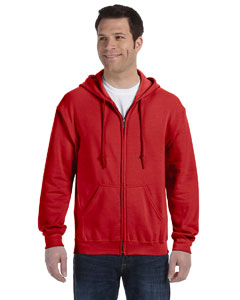 Red Heavy Blend™ 8 oz., 50/50 Full-Zip Hood