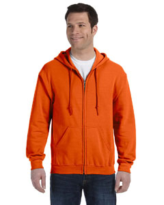 Orange Heavy Blend™ 8 oz., 50/50 Full-Zip Hood