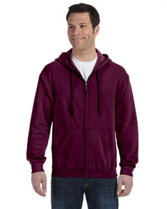 Maroon Heavy Blend™ 8 oz., 50/50 Full-Zip Hood