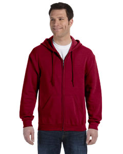 Cardinal Red Heavy Blend™ 8 oz., 50/50 Full-Zip Hood