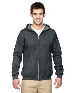 Dark Heather Heavy Blend™ 8 oz., 50/50 Full-Zip Hood