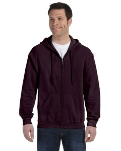 Dark Chocolate Heavy Blend™ 8 oz., 50/50 Full-Zip Hood