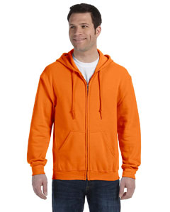 Safety Orange Heavy Blend™ 8 oz., 50/50 Full-Zip Hood