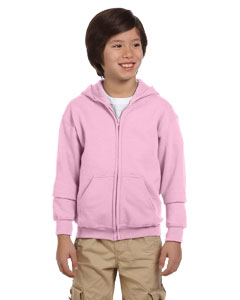 Light Pink Youth Heavy Blend™ 8 oz. 50/50 Full-Zip Hood