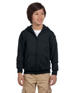Black Youth Heavy Blend™ 8 oz. 50/50 Full-Zip Hood