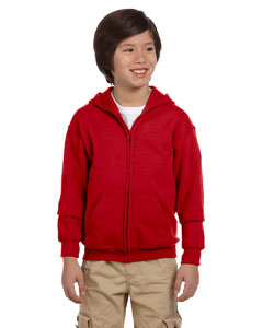 Red Youth Heavy Blend™ 8 oz. 50/50 Full-Zip Hood