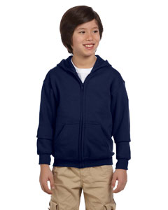 Navy Youth Heavy Blend™ 8 oz. 50/50 Full-Zip Hood