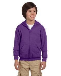 Purple Youth Heavy Blend™ 8 oz. 50/50 Full-Zip Hood