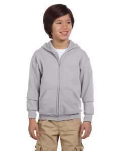 Sport Grey Youth Heavy Blend™ 8 oz. 50/50 Full-Zip Hood