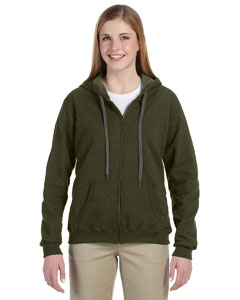 Moss 8 oz. Heavy Blend™ Vintage Missy Fit Full-Zip Hood