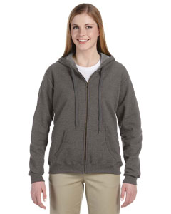 Tweed 8 oz. Heavy Blend™ Vintage Missy Fit Full-Zip Hood