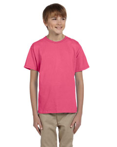 Safety Pink Ultra Cotton® Youth 6 oz. T-Shirt