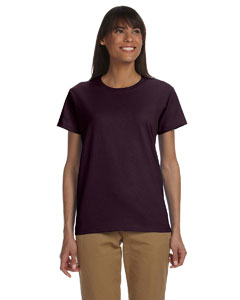 Dark Chocolate Ladies' Ultra Cotton® 6 oz. T-Shirt