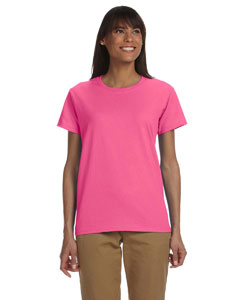 Safety Pink Ladies' Ultra Cotton® 6 oz. T-Shirt
