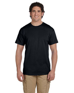 Black Ultra Cotton® Tall 6 oz. Short-Sleeve T-Shirt