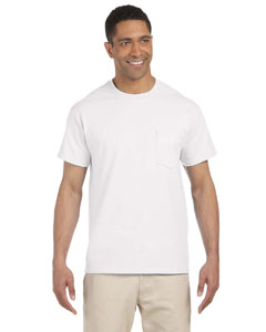 White Ultra Cotton® 6 oz. Pocket T-Shirt