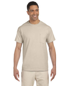 Sand Ultra Cotton® 6 oz. Pocket T-Shirt