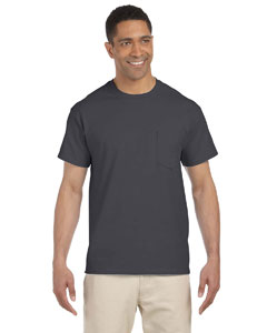 Charcoal Ultra Cotton® 6 oz. Pocket T-Shirt