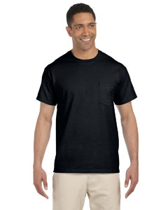 Black Ultra Cotton® 6 oz. Pocket T-Shirt
