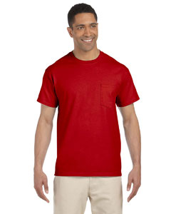 Red Ultra Cotton® 6 oz. Pocket T-Shirt