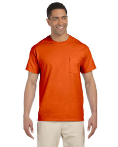 Orange Ultra Cotton® 6 oz. Pocket T-Shirt
