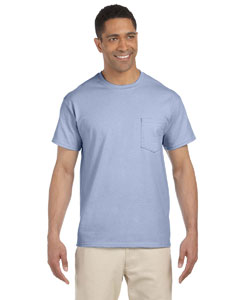Light Blue Ultra Cotton® 6 oz. Pocket T-Shirt