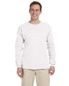 White Adult Ultra Cotton® 6 oz. Long-Sleeve T-Shirt