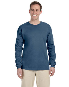 Indigo Blue Adult Ultra Cotton® 6 oz. Long-Sleeve T-Shirt