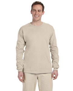 Sand Adult Ultra Cotton® 6 oz. Long-Sleeve T-Shirt