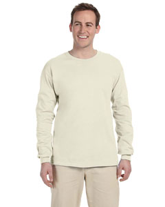 Natural Adult Ultra Cotton® 6 oz. Long-Sleeve T-Shirt