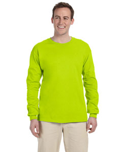 Safety Green Adult Ultra Cotton® 6 oz. Long-Sleeve T-Shirt