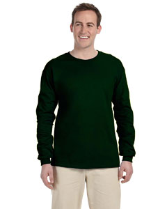 Forest Green Adult Ultra Cotton® 6 oz. Long-Sleeve T-Shirt