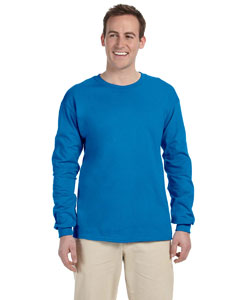 Sapphire Adult Ultra Cotton® 6 oz. Long-Sleeve T-Shirt