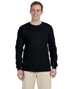 Black Adult Ultra Cotton® 6 oz. Long-Sleeve T-Shirt