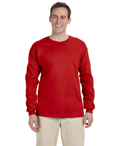 Red Adult Ultra Cotton® 6 oz. Long-Sleeve T-Shirt