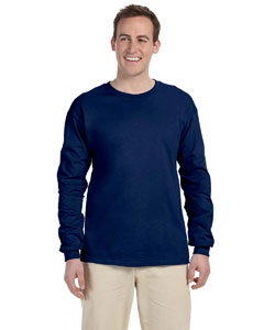 Navy Adult Ultra Cotton® 6 oz. Long-Sleeve T-Shirt