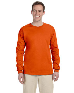 Orange Adult Ultra Cotton® 6 oz. Long-Sleeve T-Shirt