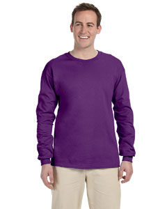 Purple Adult Ultra Cotton® 6 oz. Long-Sleeve T-Shirt