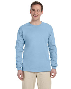 Light Blue Adult Ultra Cotton® 6 oz. Long-Sleeve T-Shirt