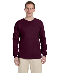 Maroon Adult Ultra Cotton® 6 oz. Long-Sleeve T-Shirt
