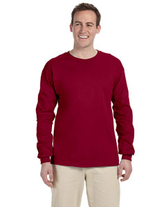 Cardinal Red Adult Ultra Cotton® 6 oz. Long-Sleeve T-Shirt
